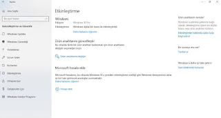 Windows 10 dijital lisans bulma