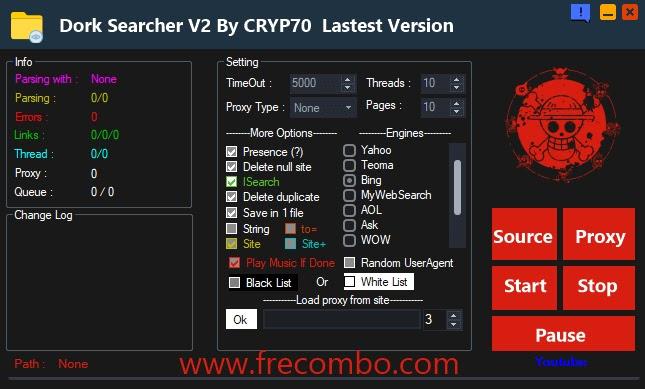 Dork Searcher V2 By CRYP70  Lastest Version
