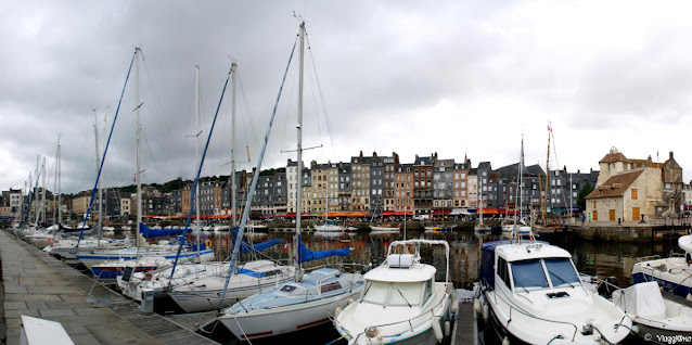 Panorama sul Vieux Bassin di Honfleur