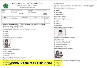 Soal PH K13 Kelas 1 SD