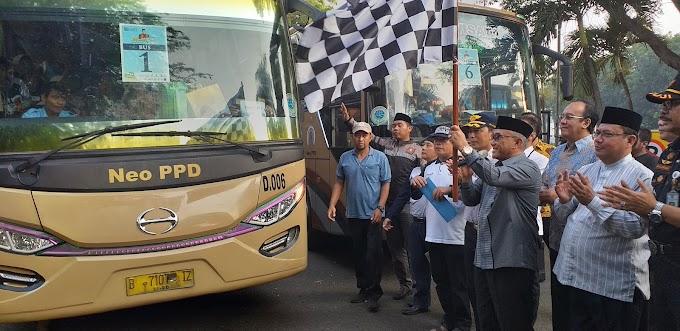 Walikota Lepas Ribuan Peserta mudik gratis 2019
