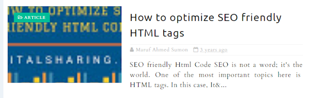 How to optimize SEO friendly HTML tags