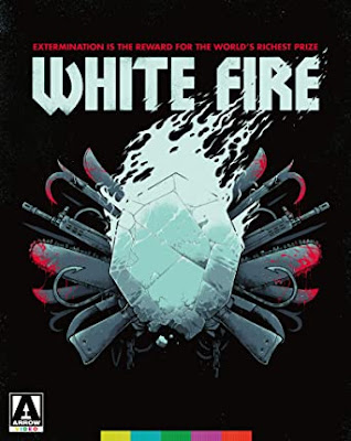 Cover art for Arrow Video's new Blu-ray release of WHITE FIRE!