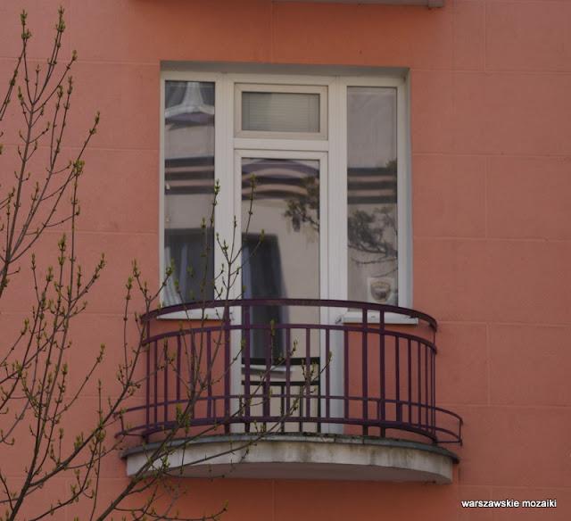 Warszawa Warsaw Mokotów ulice zabudowa pierzeja kamienice balkon