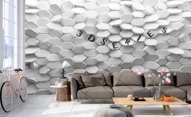 3D Wall Tiles for Living Room
