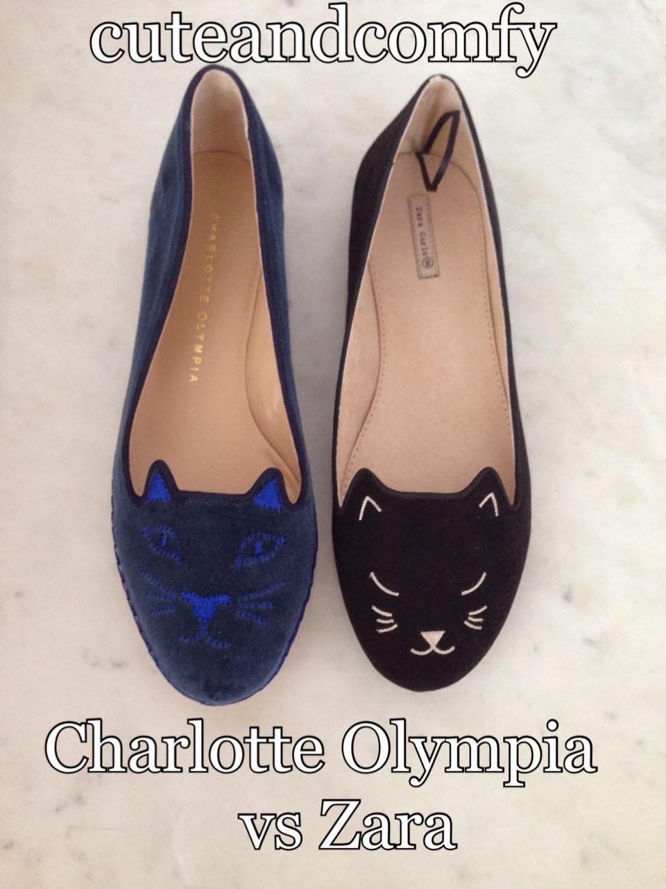 Cute And Comfy Kitty Flats Charlotte Olympia Vs Zara