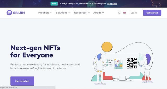 Screenshot Website Enjin Coin (ENJ)
