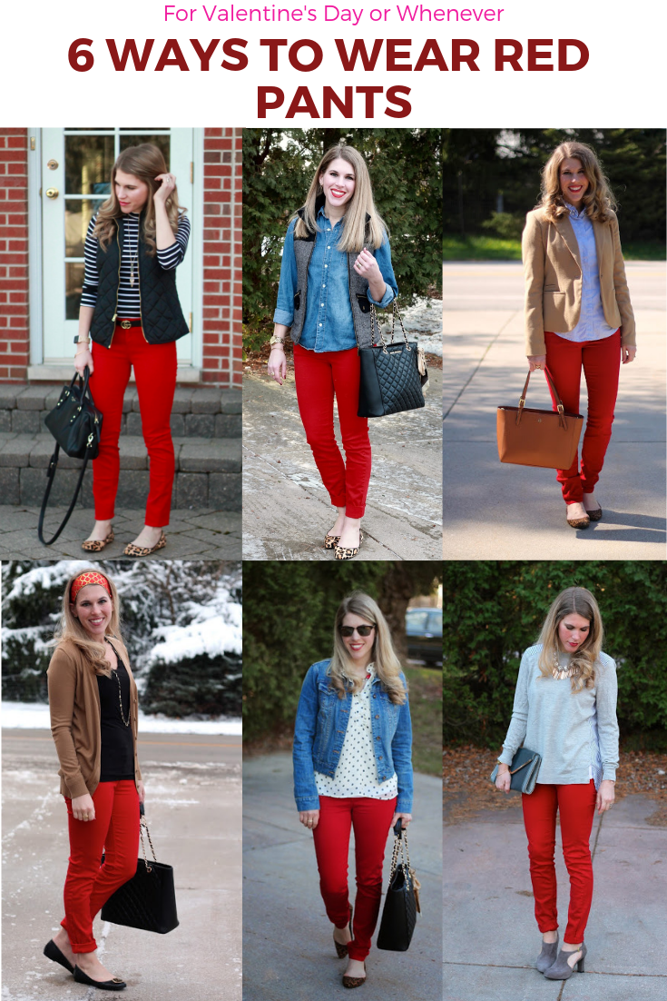 6 Ways to Wear Red Pants