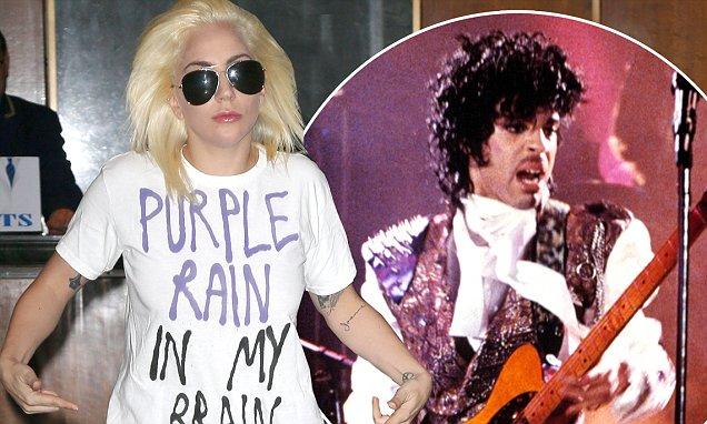 Lady Gaga Prince Purple Rain In My Brain shirt tribute to Prince. PYGear.com