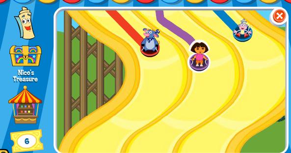 El Parque De Atracciones De Dibujos Animados Ven A Jugar: Jugar Dora Aventura De Carnaval