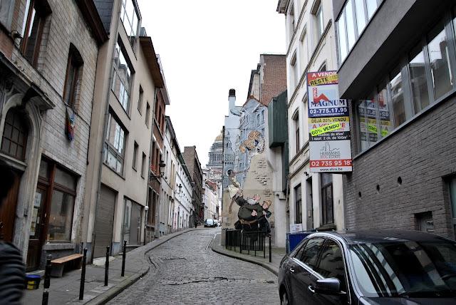 Straße in Brüssel