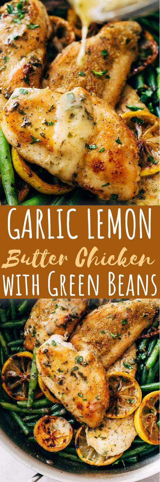 Skillet Garlic Lemon Butter Chicken #dinner #chicken