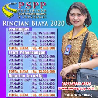 Update Biaya Sekolah Pramugari 2020 PSPP Penerbangan
