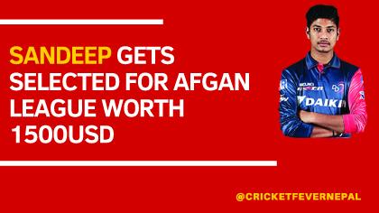 Sandeep Gets Selected For Afgan League 1
