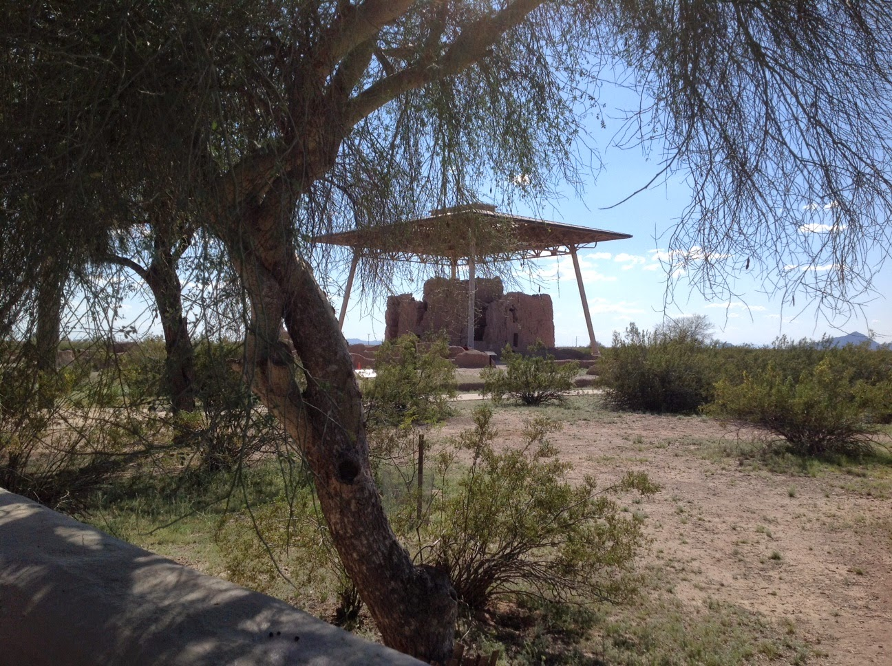 "Casa Grande Ruin, The ""Big House"", Roof over Casa Grande site"