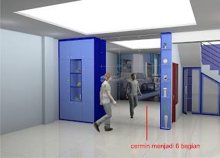 Lemari Dinding dan Cermin Dinding Besar Ruang Keluarga - Furniture Semarang