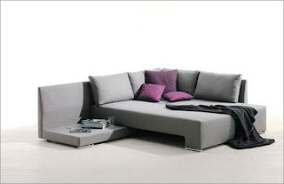 Modern Grey Bed from a Sofa