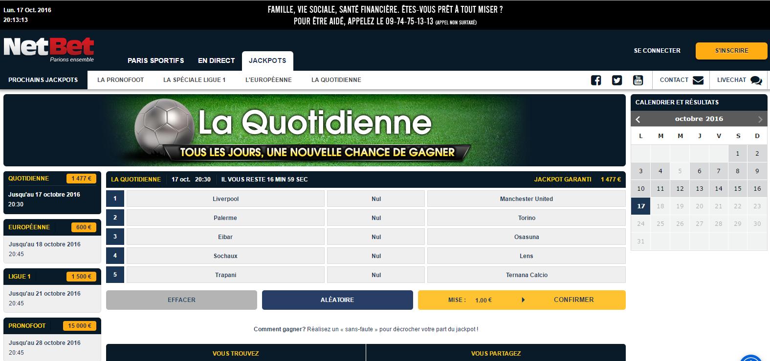 Liste parionssport fdj 1n2 - Loto foot 7&15 - Cote et match - Match du jour