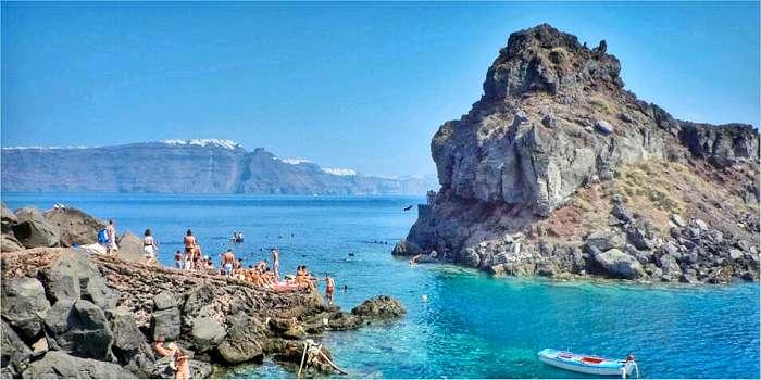Santorini: spiagge zona settentrionale