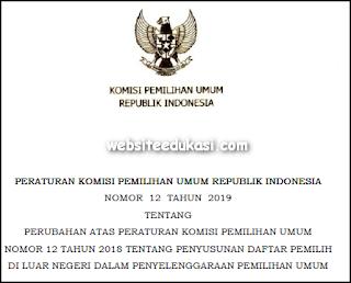 PKPU Nomor 12 Tahun 2019