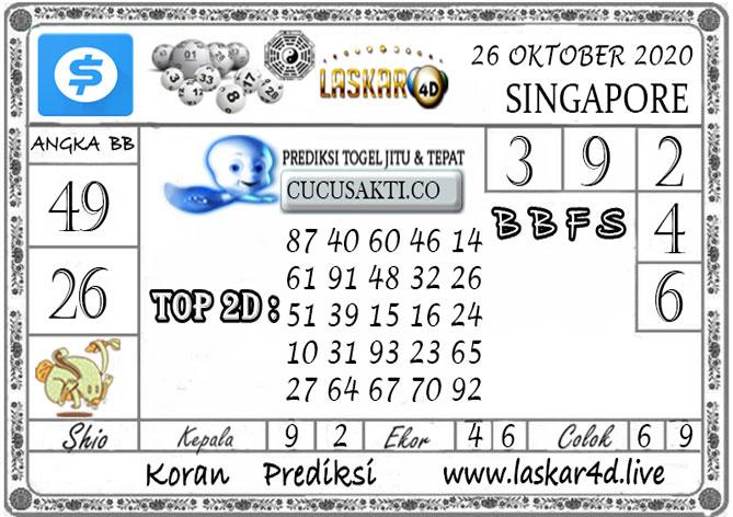 Prediksi Togel SINGAPORE LASKAR4D 26 OKTOBER 2020