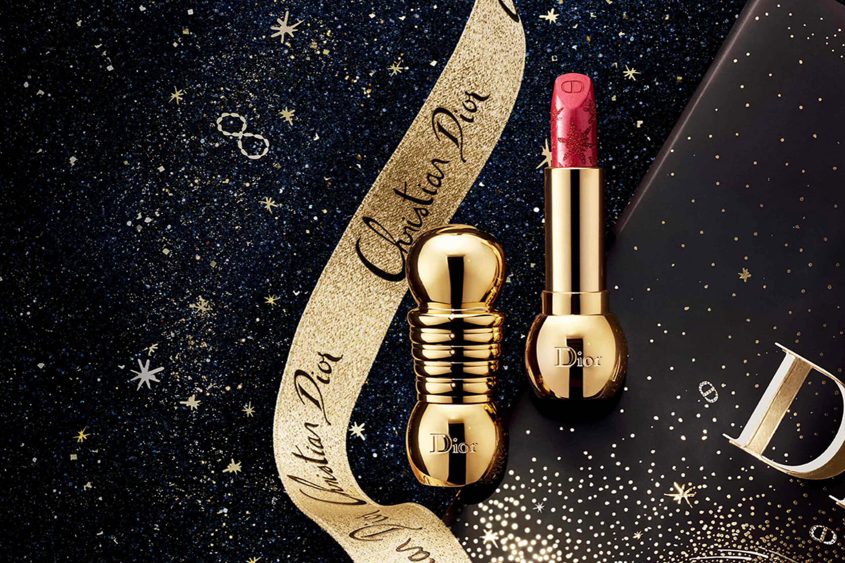 Dior Diorific Rouge A Lèvres Noel 2020 Golden Nights