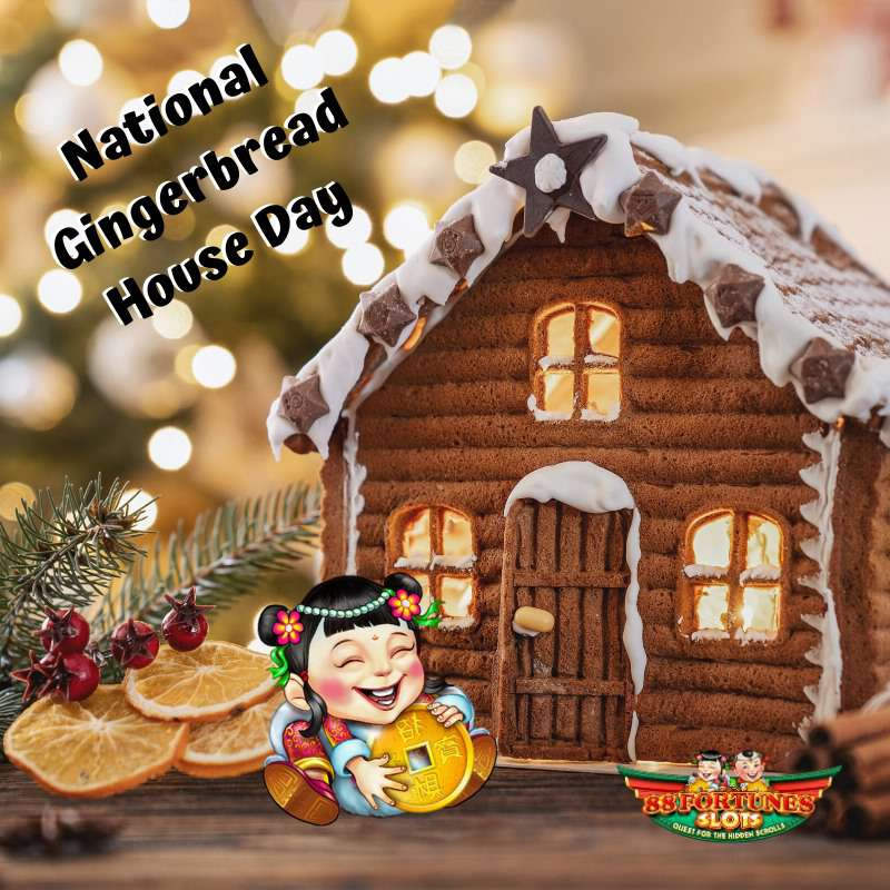Gingerbread House Day Wishes Images