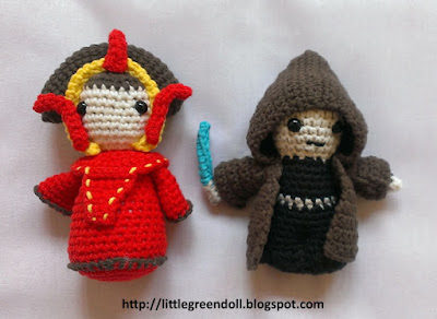 Star Wars Anakin Skywalker Queen Amidala amigurumies