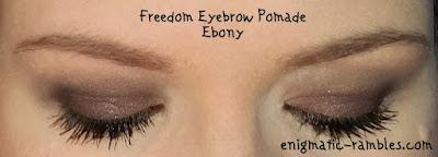 Freedom-Makeup-Eyebrow-Pomade-Ebony-Review-Swatch