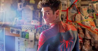 Andrew Garfield no papel de Homem aranha