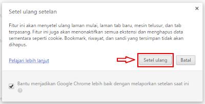 Jika browser google chrome Anda mengalami problem menyerupai halaman web yang datang Cara Setel Ulang Google Chrome