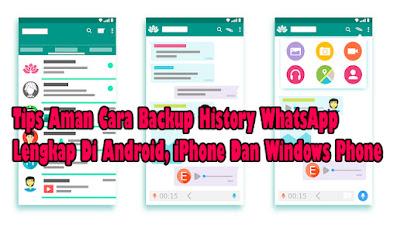 Tips Aman Cara Mencadangkan Chats WhatsApp Di Hp