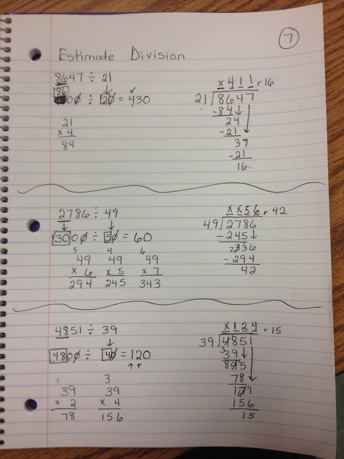 Math With Mrs D Estimating Division Problems