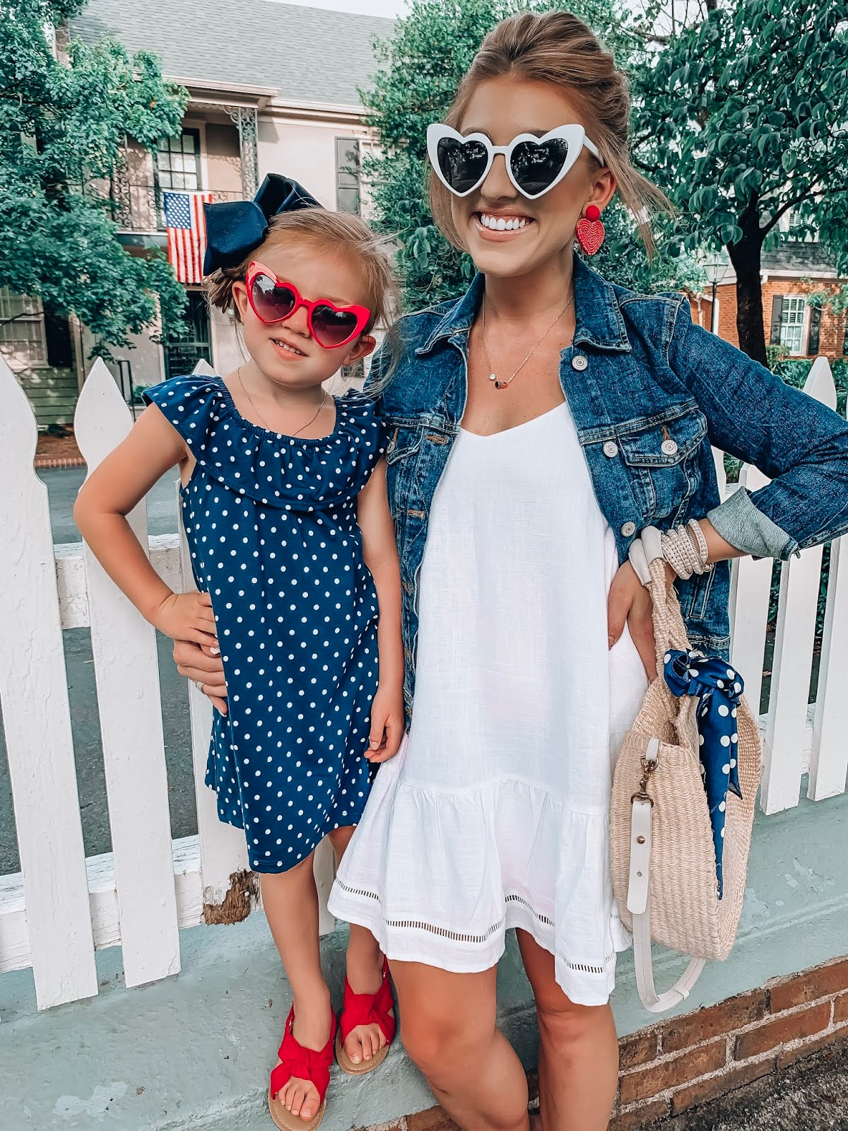 July 4th Outfit Inspiration for the whole family - Something Delightful Blog #summerstyle #patriotic