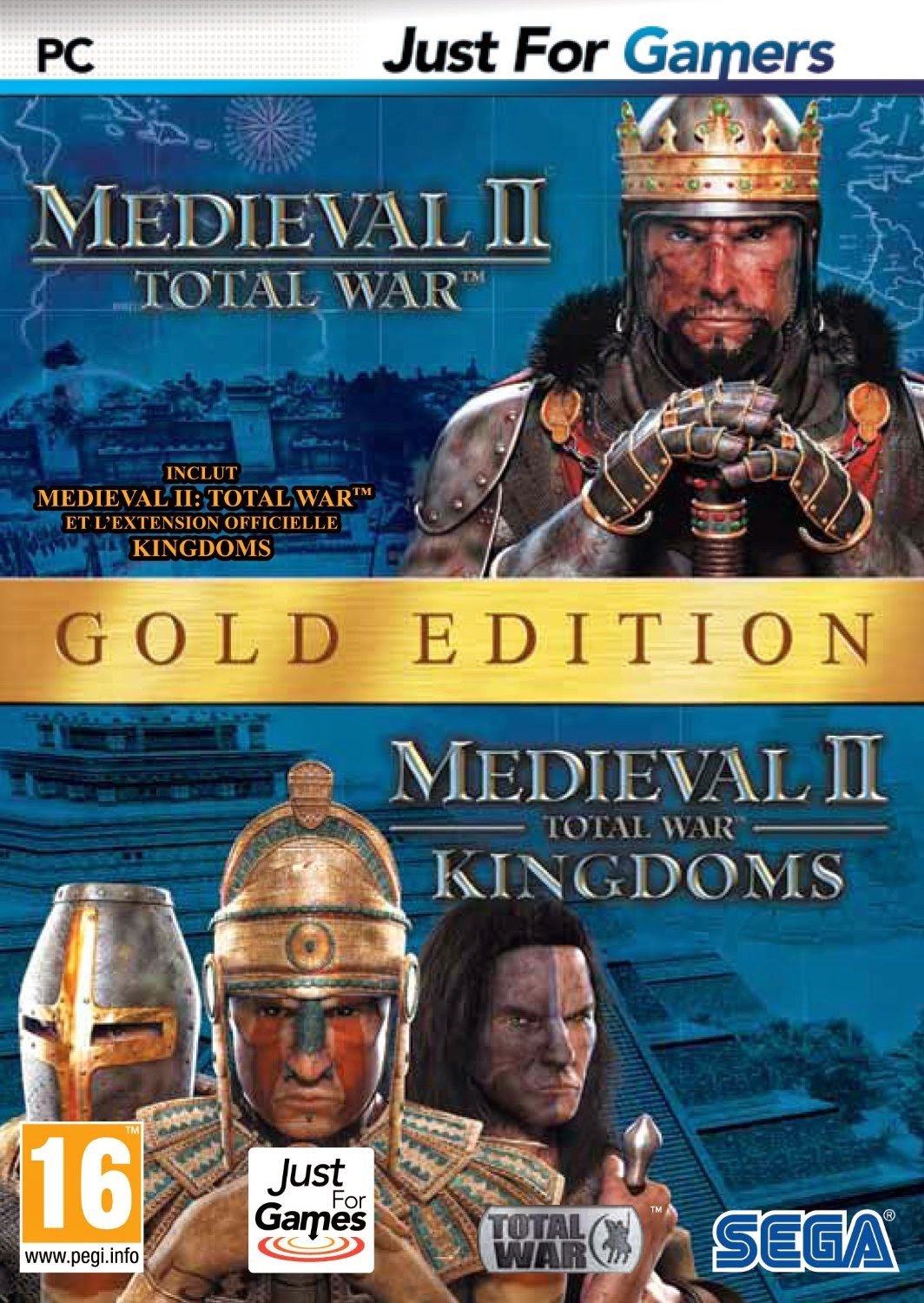 total war medieval ii dition gold jeu complet pour pc en francais crack inclus. Black Bedroom Furniture Sets. Home Design Ideas