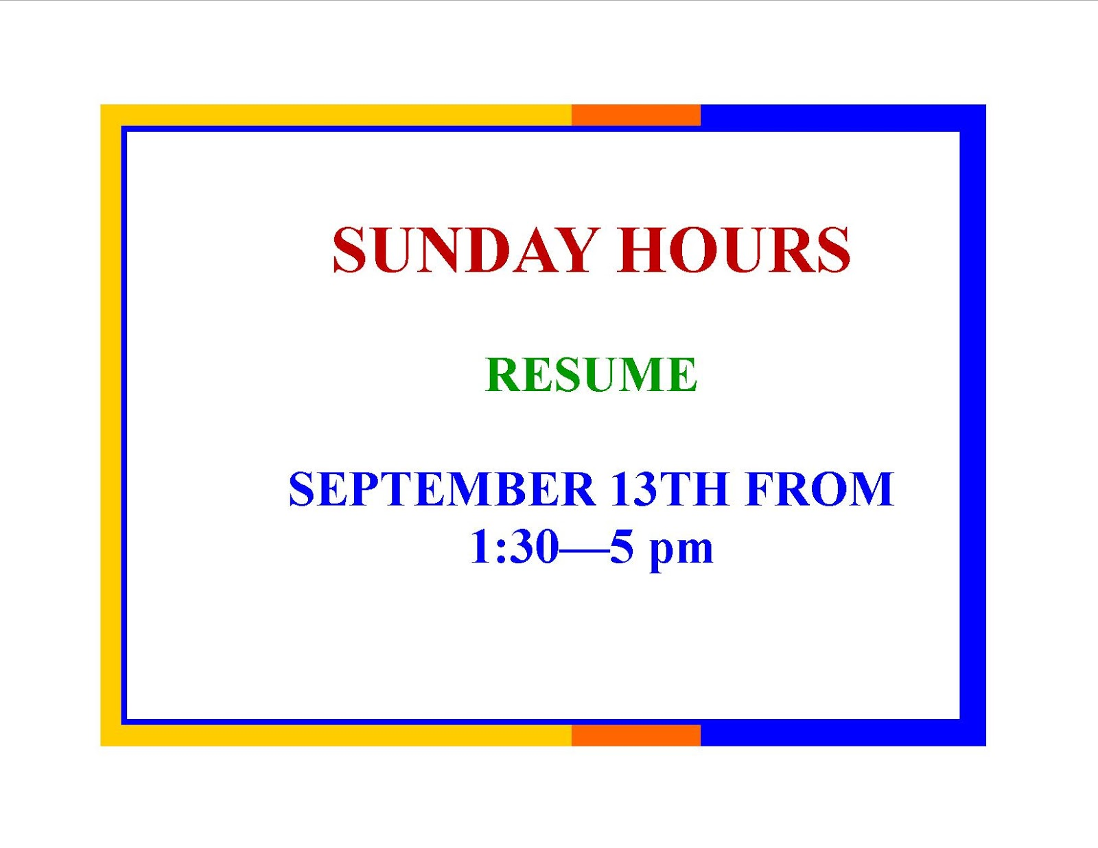 Sunday hours resume at the Franklin Public Library Sep 13
