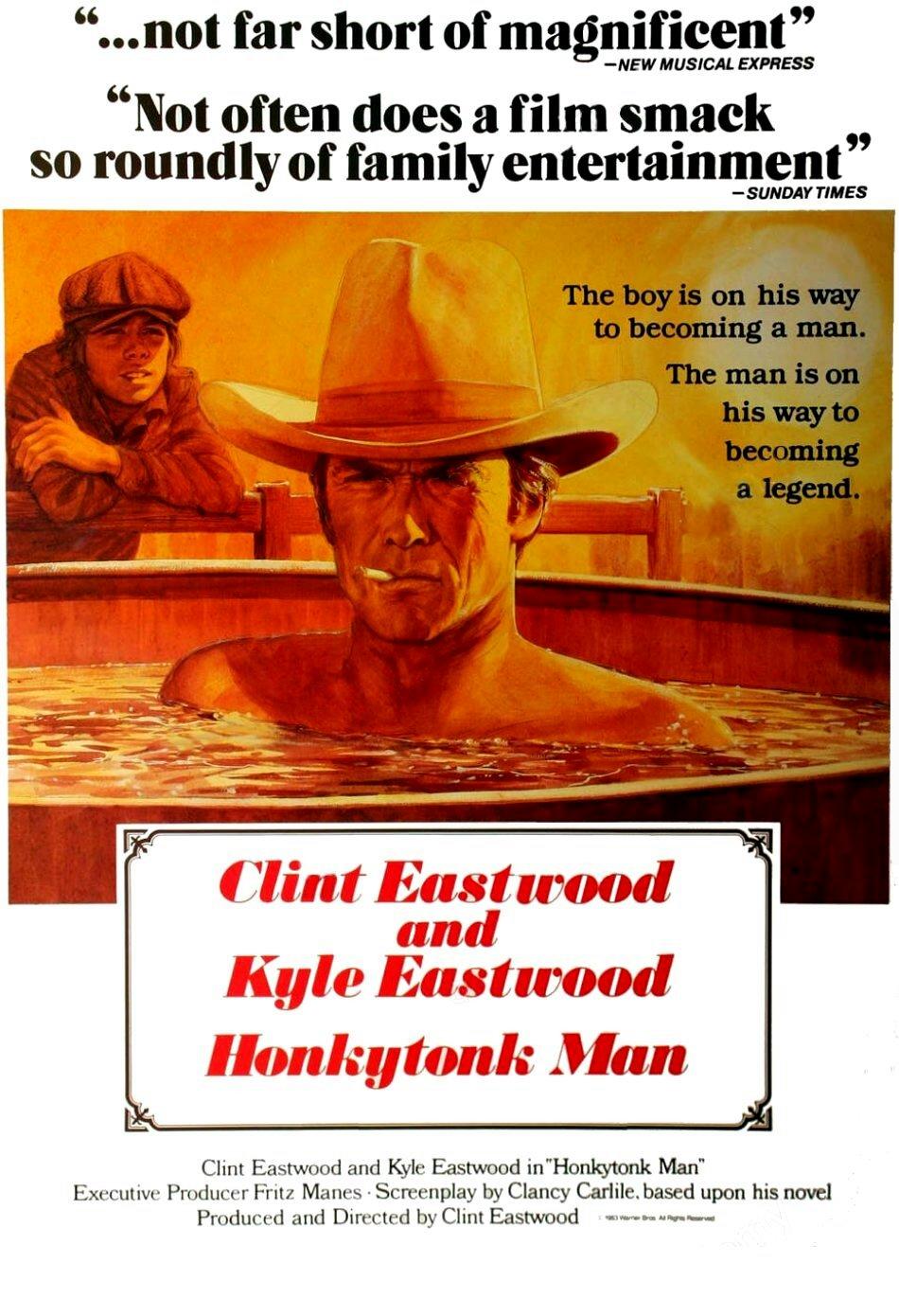 HONKYTONK MAN Movie Poster RARE Clint Eastwood Western