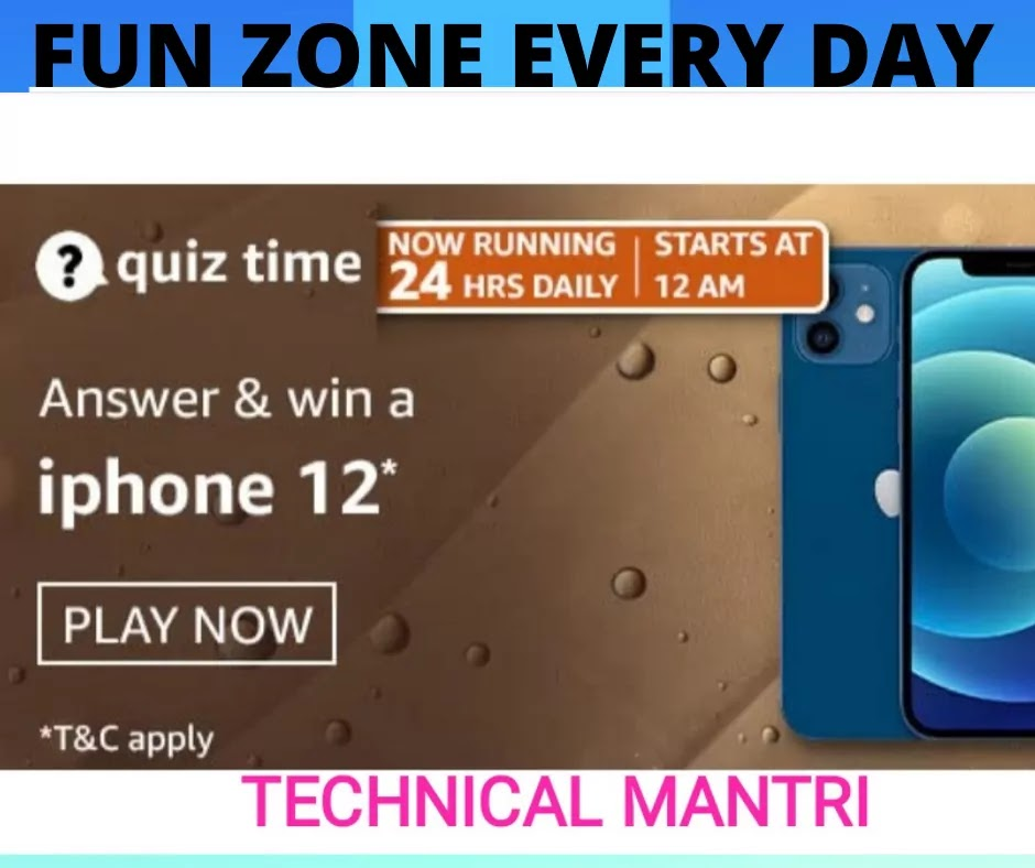 Amazon Quiz Answers For 2nd May 2021 Win iphone 12