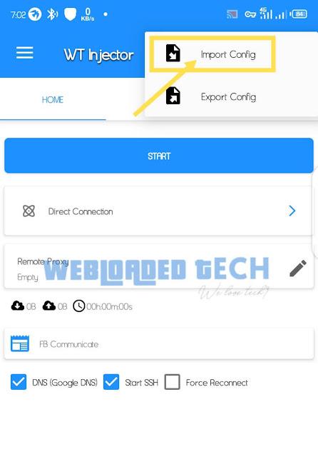 Airtel 500MB Free Browsing Cheat Via Webloaded Tech Injector Vpn