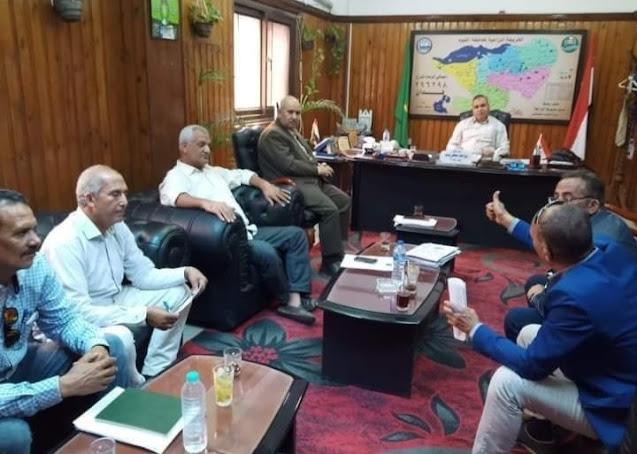 وكيل زراعة الفيوم اجتماع مع مسئولي حماية الأراضي بالمديرية والإدارات لمناقشة قانون التصالح