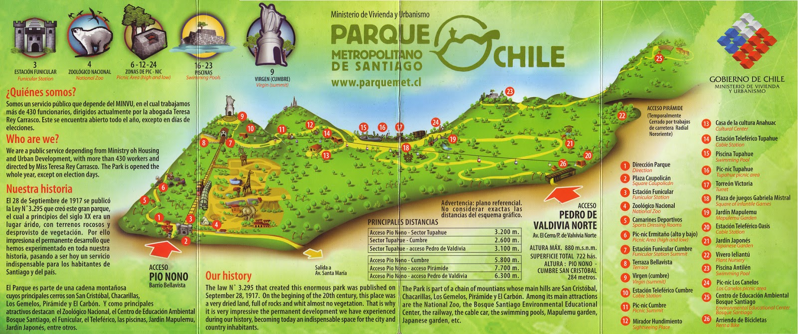 Viagens de carolina martinez cerro san crist bal parque for Jardin japones de santiago