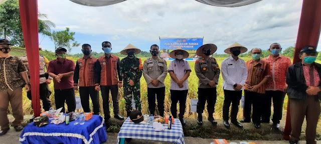 Menekan Penularan Covid-19 dan Meningkatkan Ketahanan Pangan, Kapolres Bersama Forkopimda Resmikan Kampung  Paten dan Panen Raya