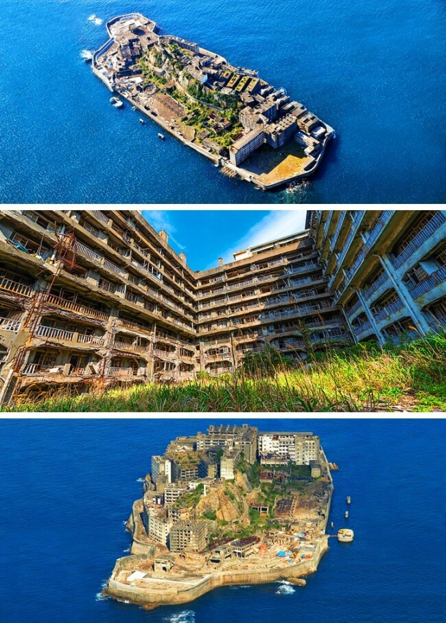 12 Once Booming Places Around The World That Are Now Abandoned And Empty - Hashima, Japan