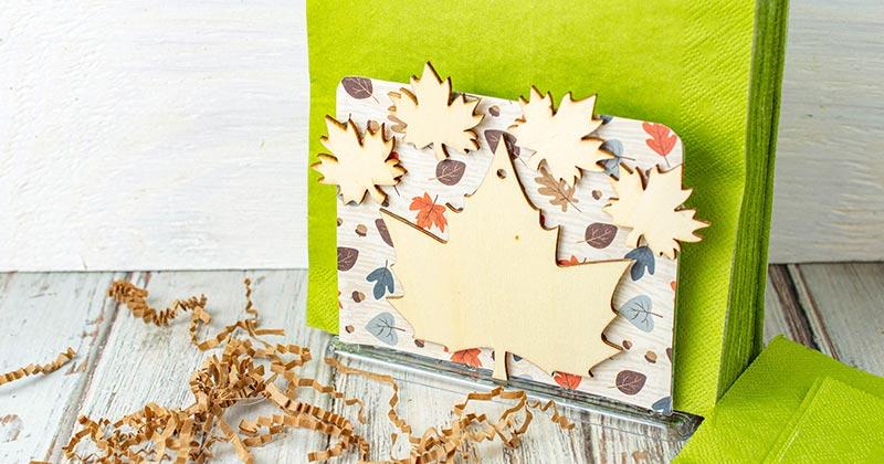 Diy Fall Napkin Holder Made With Dollar Tree Supplies