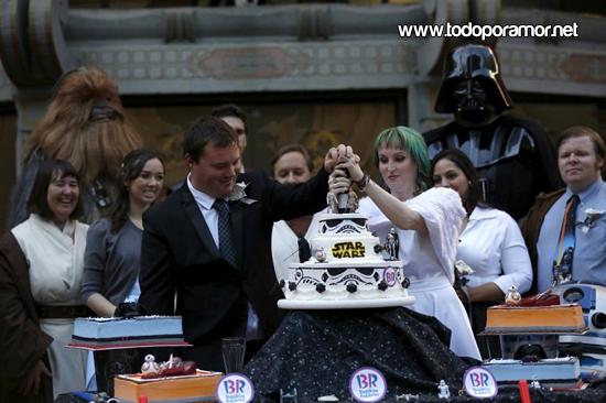La boda estilo Star Wars