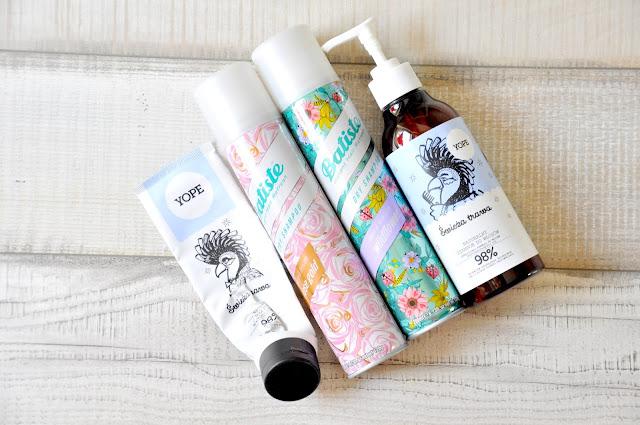 suche szampony batiste, szampon i odżywka yope świeża trawa do włosów przetłuszczających się