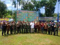 Danrem 022/PT Kolonel Inf Raden Wahyu Sugiarto  Hadiri Pembukaan TMMD Ke - 105 Di Labuhan Batu