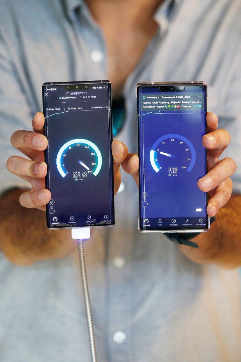 Así fue el test de velocidad de un teléfono con 5G en Chile