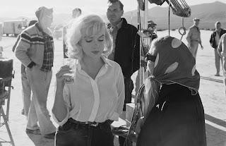Marilyn Monroe durante los rodajes