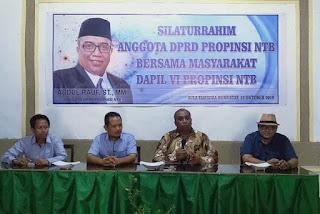 Gelar Silaturahmi di Dapil VI, Wakil Ketua Komisi II DPRD NTB Terima Banyak Aspirasi